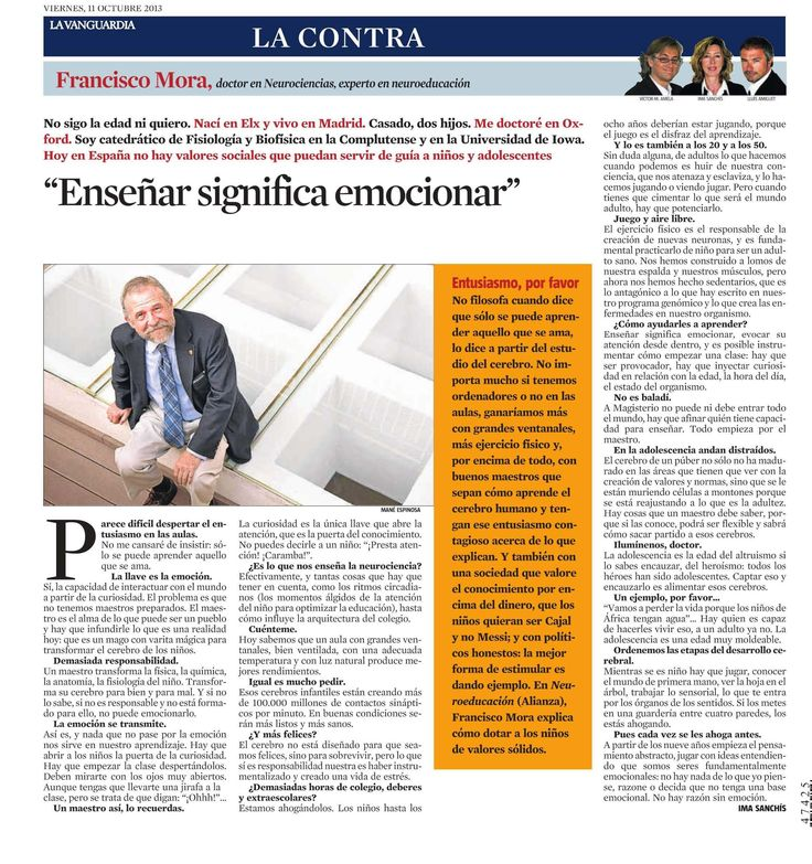 Francisco Mora en La Vanguardia