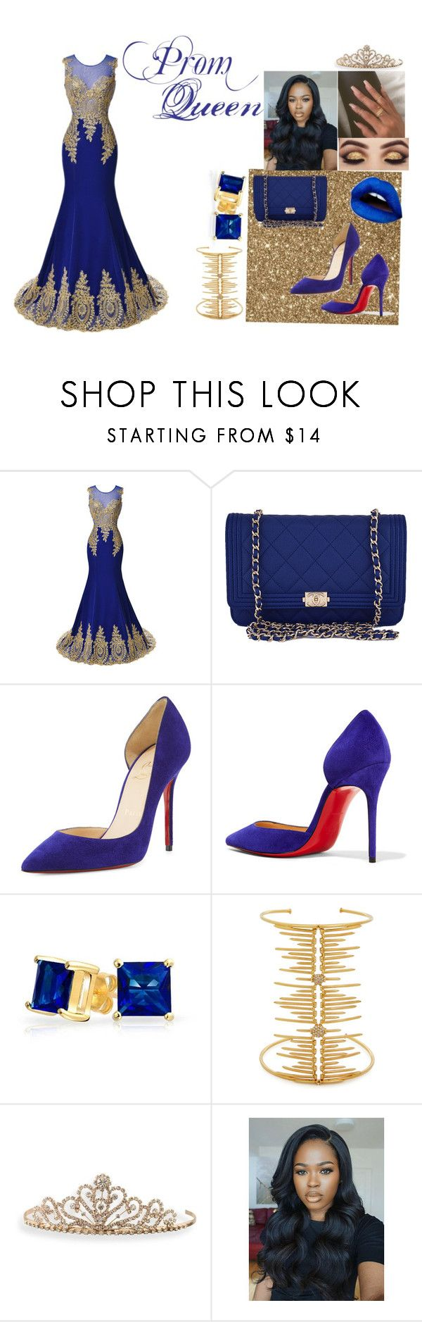 """""""Prom Queen👸🏾"""" by anaijaadvis ❤ liked on Polyvore featuring Chanel, Christian Louboutin, Bling Jewelry, Joanna Laura Constantine and BillyTheTree"""