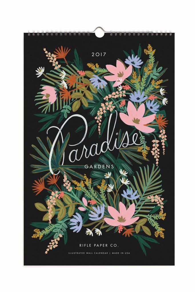 """Bring the outdoors in all year round with a garden-inspired wall calendar. Dimensions: Measures 6"""" x 7.5"""". Details: Spiral bound. Rifle Paper Co. is a stationery and lifestyle brand founded and owned"""