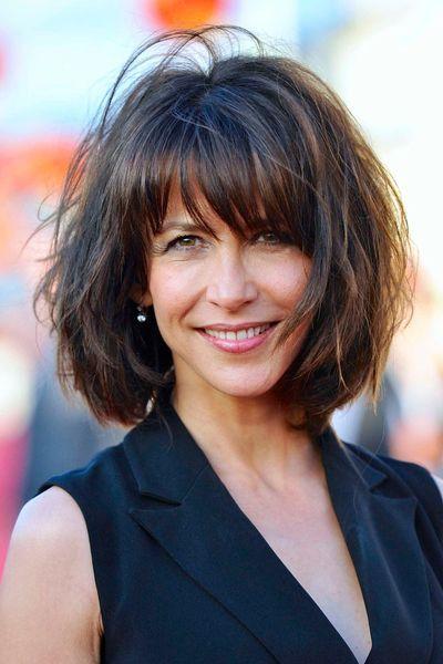 Plus belles coiffures 2014: Sophie Marceau et son carré flou