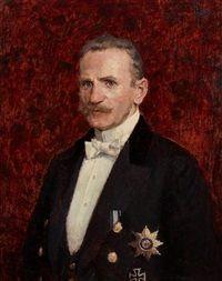 Porträt eines Herren mit Ritterkreuz, 1916, Ernst Wilhelm Müller-Schönefeld