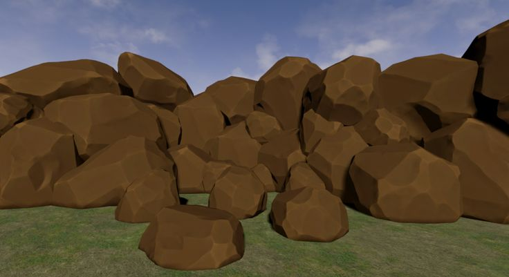 Rocks. Sculpted in ZBrush, retopologized in Maya and running in Unreal Engine 4.7