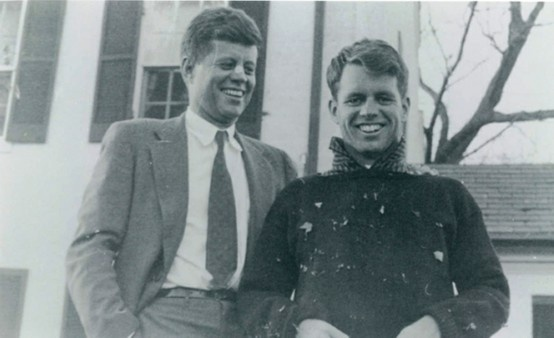 President JFK and his little brother (the Attorney General) Robert Kennedy