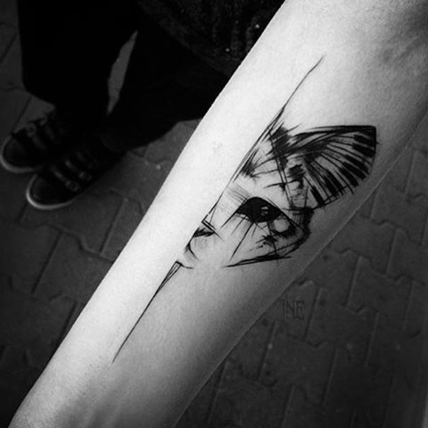 75 Schone Katze Tattoos Fur Frauen Mit Bildern Polnische