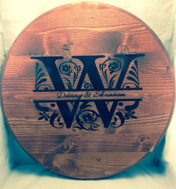 Personalized Wooden Lazy Susan By Mymeminedesigns On Etsy