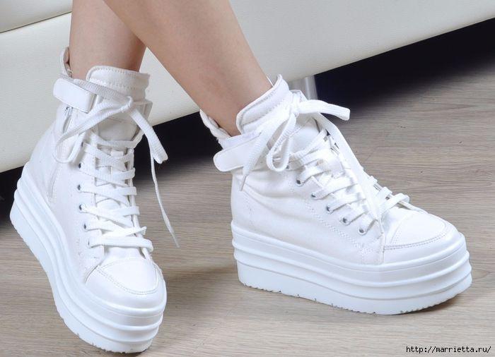 Чем очистить белую подошву кед и кроссовок (2) (700x506, 222Kb)