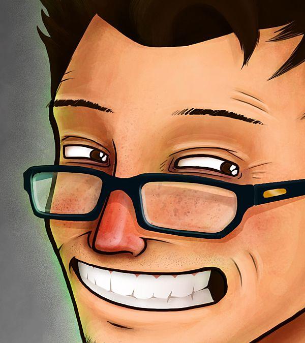 Self Portrait by Karlos Velásquez, via Behance