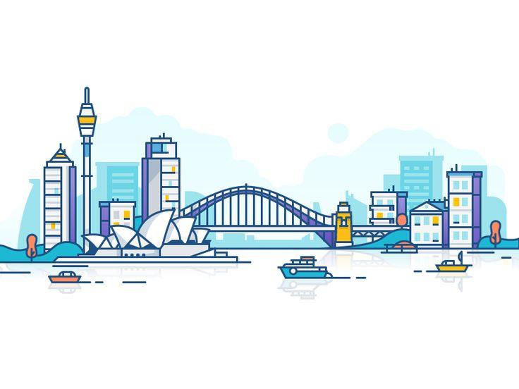 Sydney by Dmitrij #Design Popular #Dribbble #shots