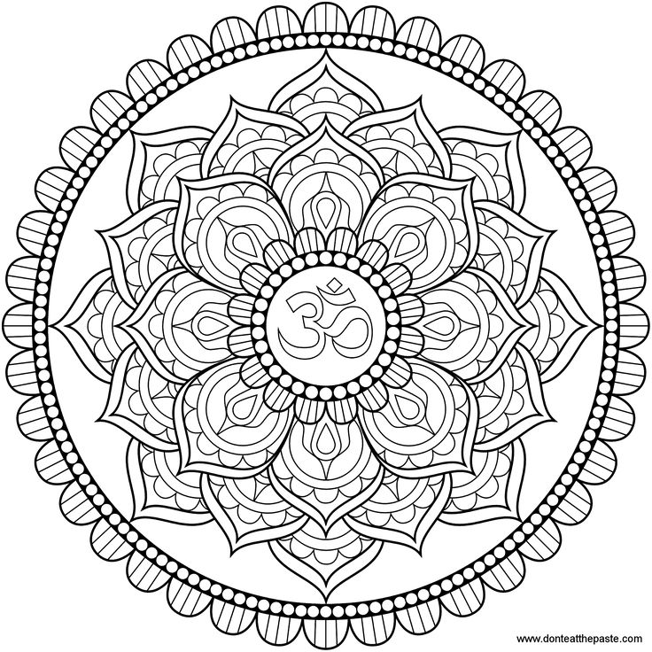 american hippie zentangle coloring page art om lotus mandala - Hippie Coloring Book