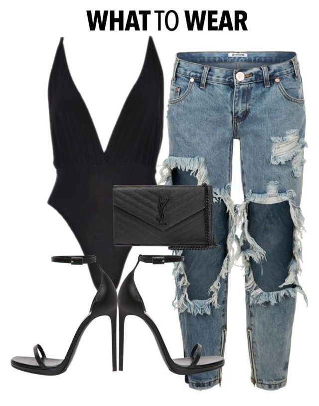 Details x online by shopluxrb on Polyvore featuring polyvore, fashion, style, One Teaspoon, Yves Saint Laurent and clothing