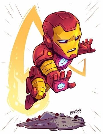 caricaturas de iron man 2