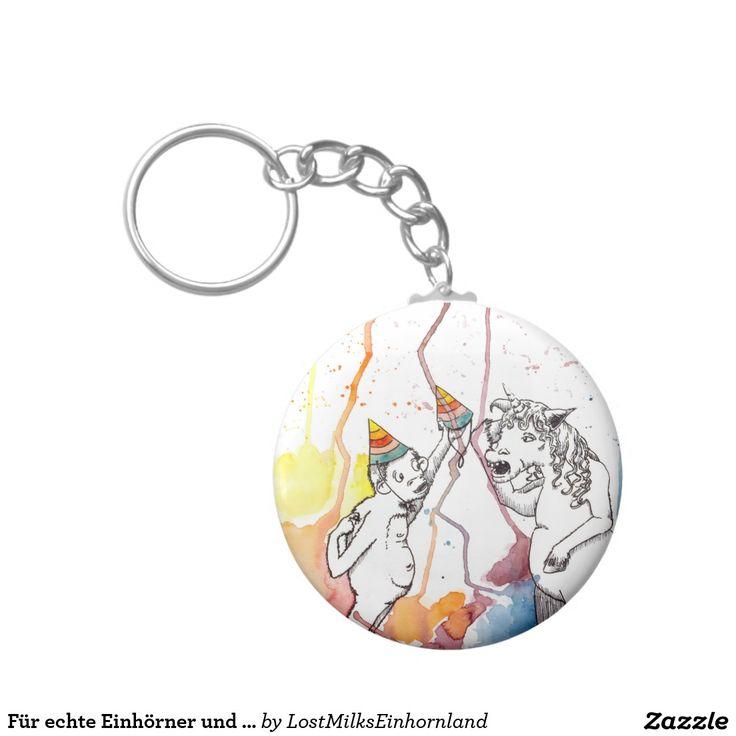 Für echte Einhörner und Einhorn Fans Standard Runder Schlüsselanhänger #einhorn #unicorn #schlüsselanhänger #keyholder