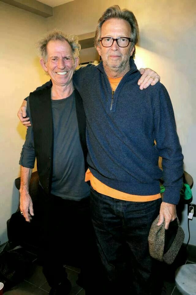 Keith and Eric. Guitar legends.