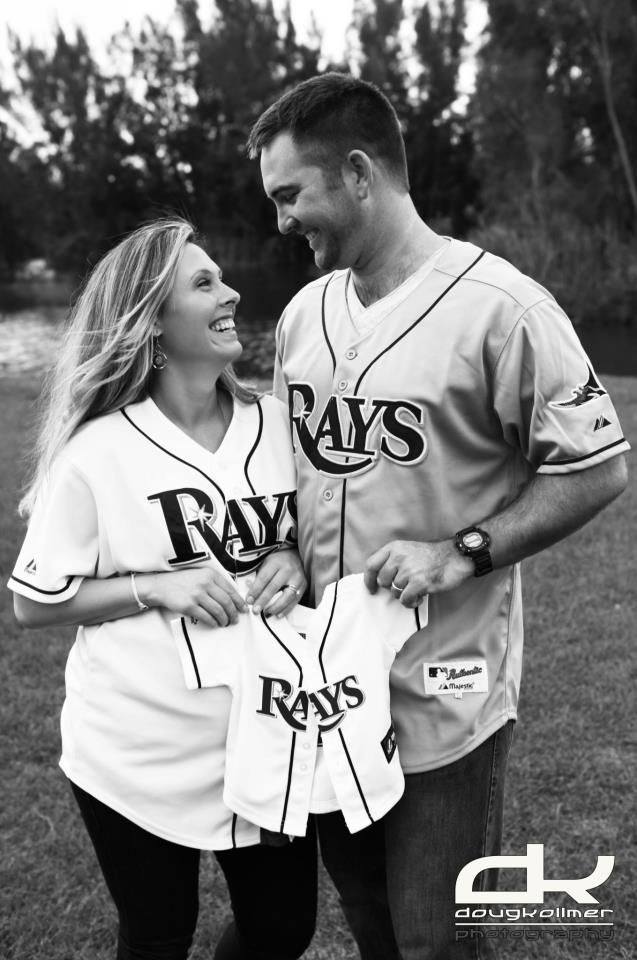Check out this beautiful photo from a maternity shoot from dedicated Rays fans! The little one is already prepared with a game ready jersey...so cute!