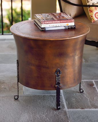 Hand Hammered Copper Table