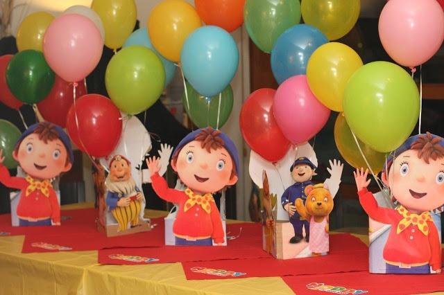 Katherine's Noddy party centrepieces
