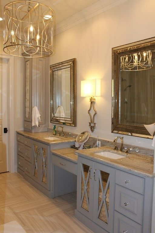 Small space trick mirrored cabinetry will make a tiny for Beautiful master bedrooms and bathrooms