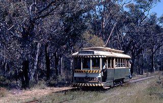 Ballarat Tram 12 at the Sydney Tram Museum in 1974