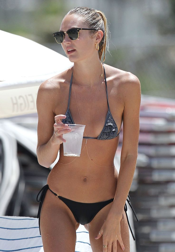 Candice Swanepoel Gets Wet On The Beach In Miami July