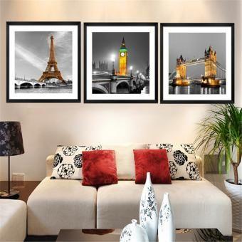 Set de cuadros decorativos Diseño Paisajes 3 piezas