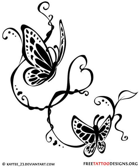 swirly butterflies tattoo design onto the next one pinterest wings tribal butterfly. Black Bedroom Furniture Sets. Home Design Ideas
