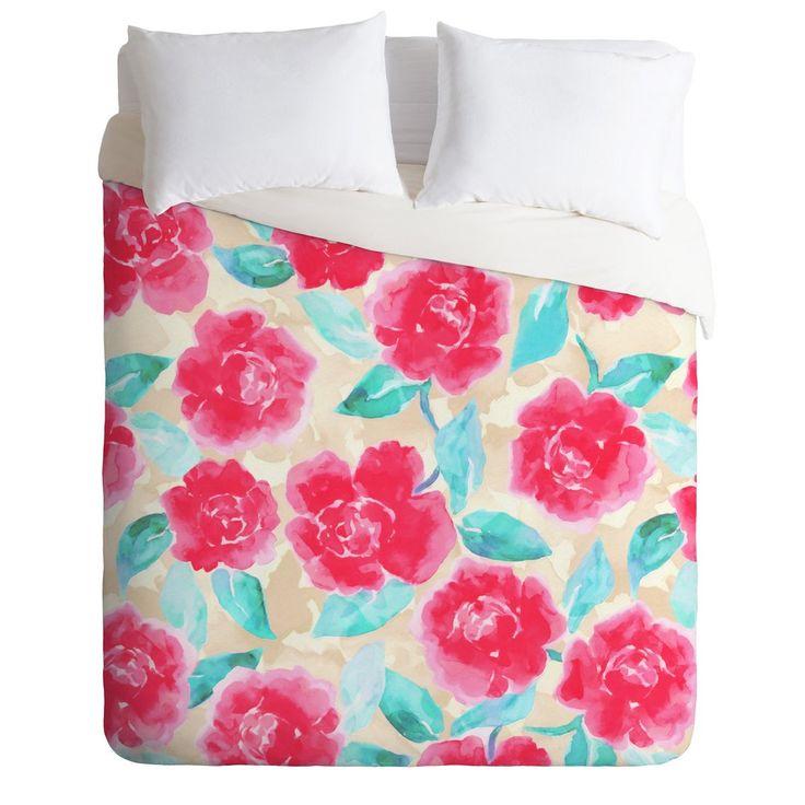 Jacqueline Maldonado Cottage Peonies Pink Duvet Cover | DENY Designs Home Accessories
