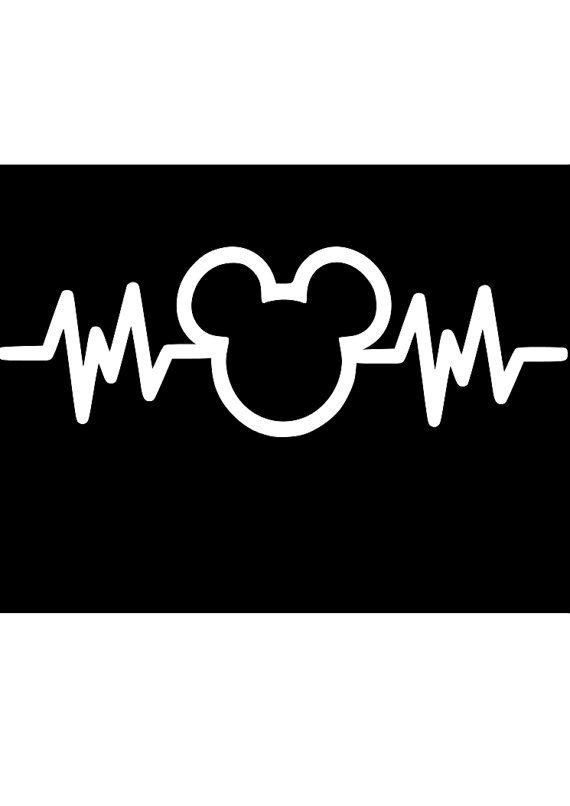 Mickey heartbeat decal by AllAmericanCandV on Etsy