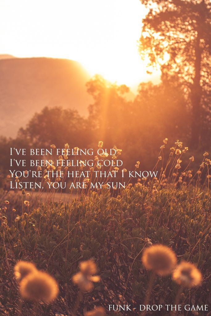 Listen, you are my sun. Flume - Drop the game