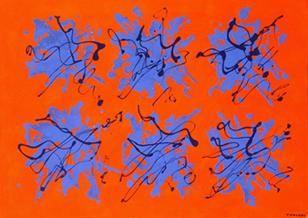 Giulio Turcato , Arcipelago, 1971, olio e tecnica mista su tela, cm 70x100 (1912-1995)