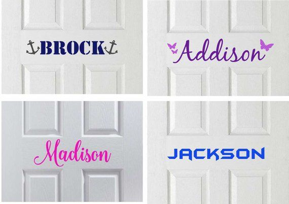 Kids Door Vinyl Decal Kids Name Sticker Kids Door Sign Bedroom Door Decal Kids Room Door Sign K Kids Door Signs Door Stickers Room Stickers