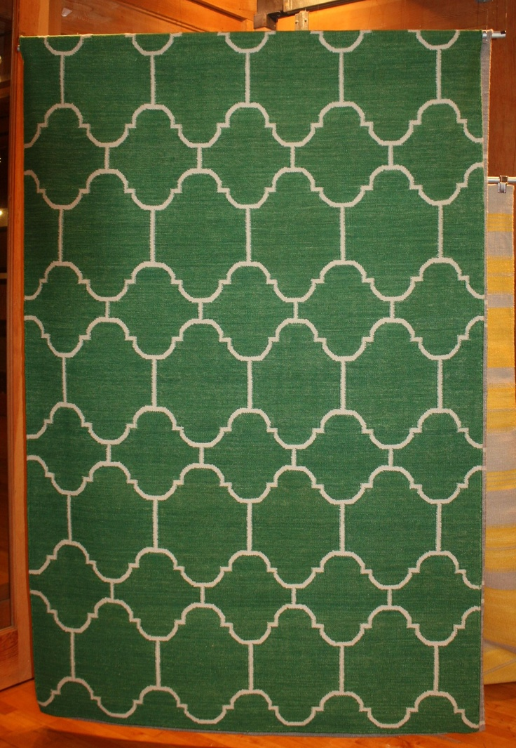 Capel Rugs- Market Square  Genevieve Gorder's Green Rug  Great color and graphic pattern  #hpmkt