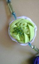 #Collar LilaVert asimetrico - [Musselina] - #handmade by Nadia - detalle 4