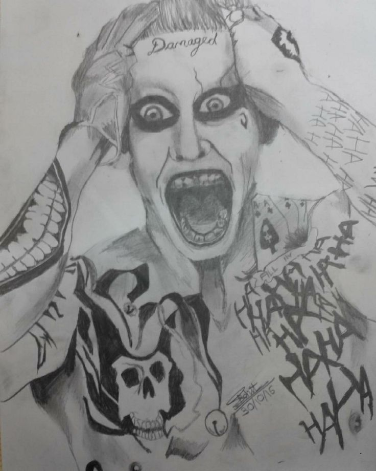 Joker pencil sketch drawn by me