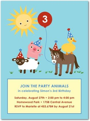 88 best farm birthday party images on pinterest farm birthday personalized farm party invitations handpicked by me from tiny prints for a very special birthday party stopboris Choice Image