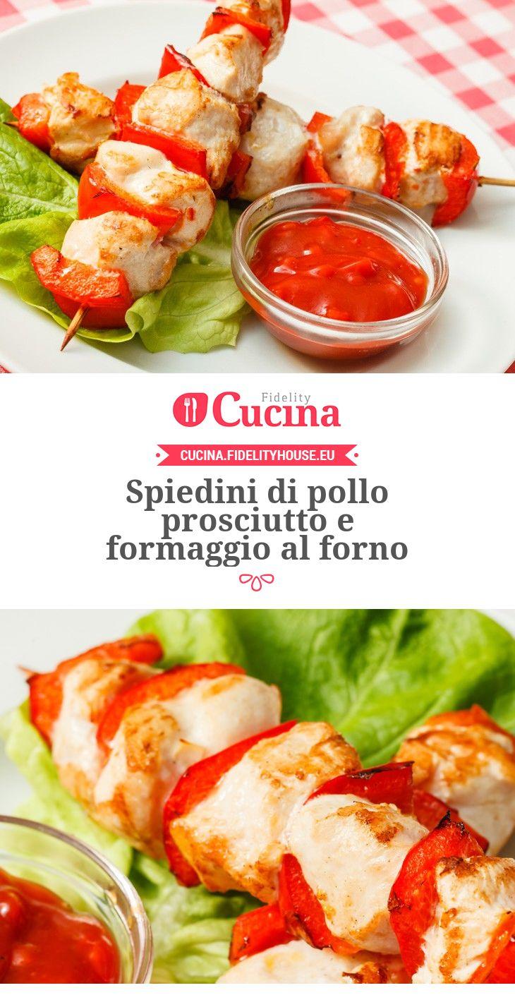Spiedini di #pollo prosciutto e #formaggio al forno