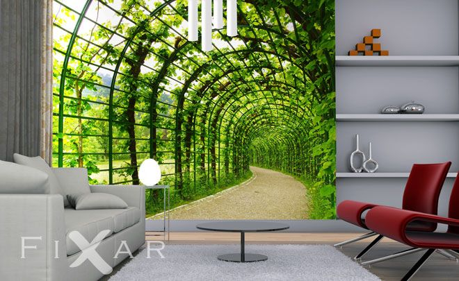 Ein Tunnel Zu Ihrem Garten Fototapete Fürs Wohnzimmer Pinterest