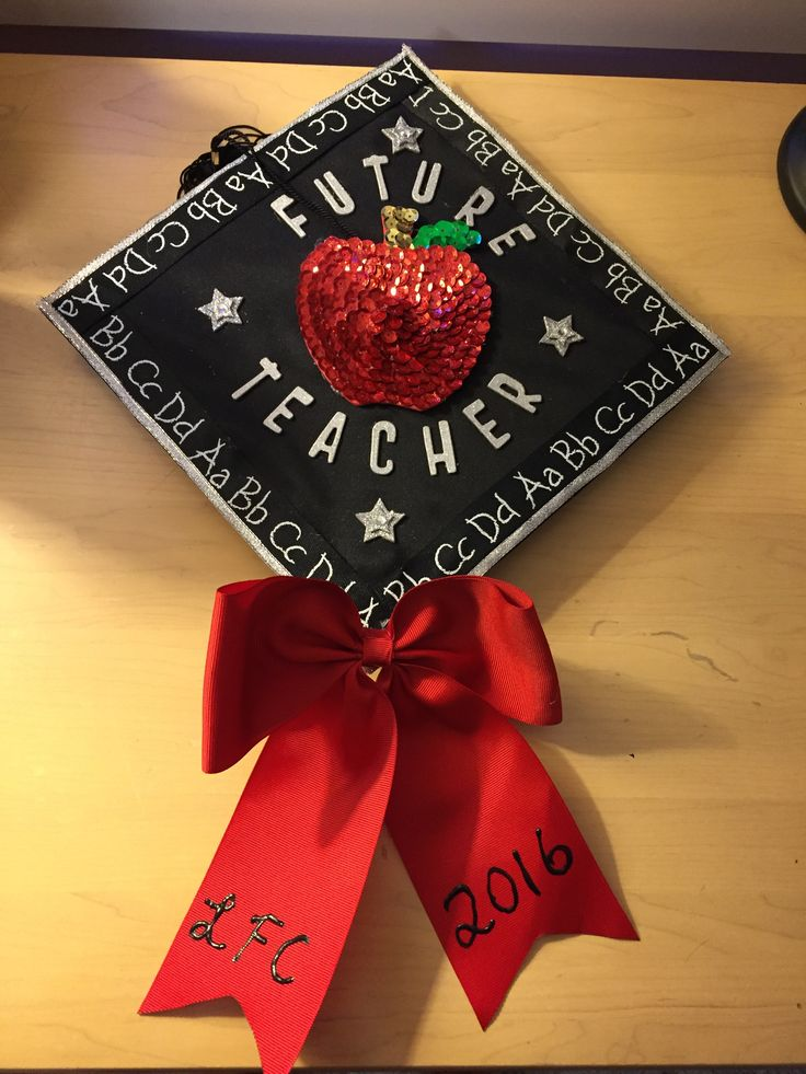 Decorated my cap for graduation. So excited to enter the real world as an elementary teacher!