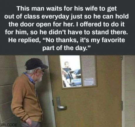 Cute old couple