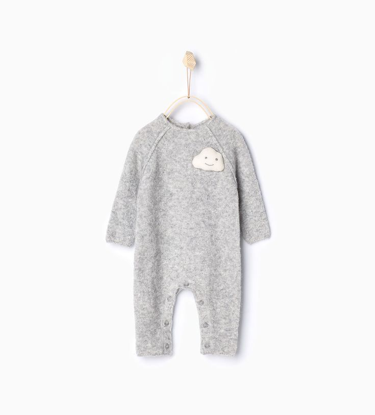 Cloud knit sleepsuit-Outfits & romper suits-Mini | 0-12 months-KIDS | ZARA United States