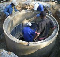 building a biogas system using concrete