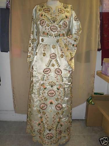 Palestinian Henna/HInna Thobe, dress, abaya, wedding