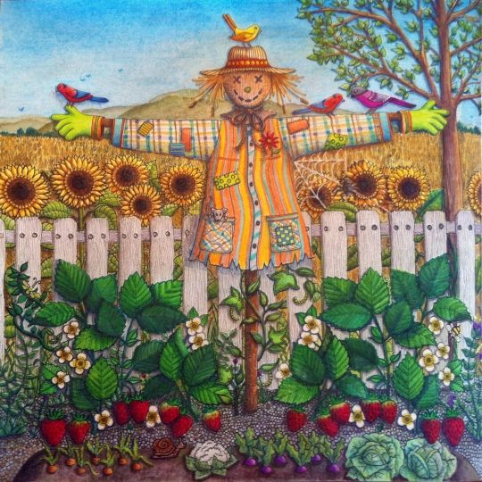 SECRET GARDEN By Annick Philibert Pens And Pencils Used Prismacolor Premier Inktense Blocks White Acrylic Paint To Cover Up The Words Micron Mm