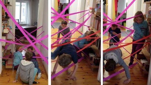 Tolle Spielideen für kleine und große Partygäste | Nie wieder Langeweile mit diesen schnellen Spielideen! Ob Spinnennetz-Spiel, Loop-Stapel oder Lego-Löffeln – mit diesen Spielen kommt gute Laune in große und kleine (Geburtstags-) Spielerunden! Und das Beste daran: Alles, was Ihr für diese Spiele braucht, habt Ihr bereits zuhause.
