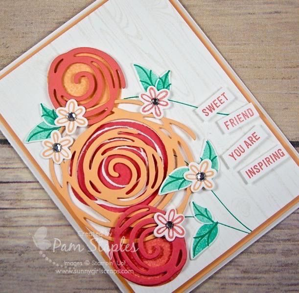 Sweet Friend Card using Stampin' Up! Swirly Bird Stamp Set by Sunny Girl Scraps