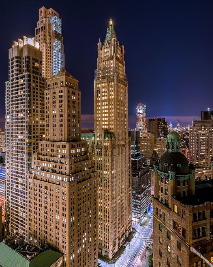 New York City Feelings - The Woolworth Building by @gregroxphotos