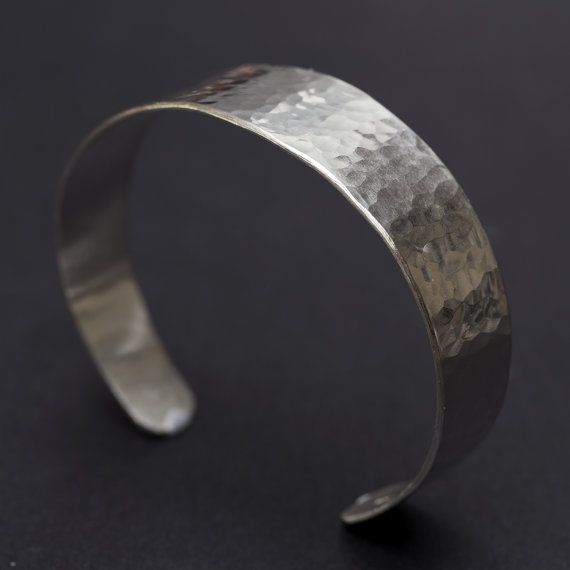 Sterling Silver Bangle Hammered Sterling by RebeccaCordingley