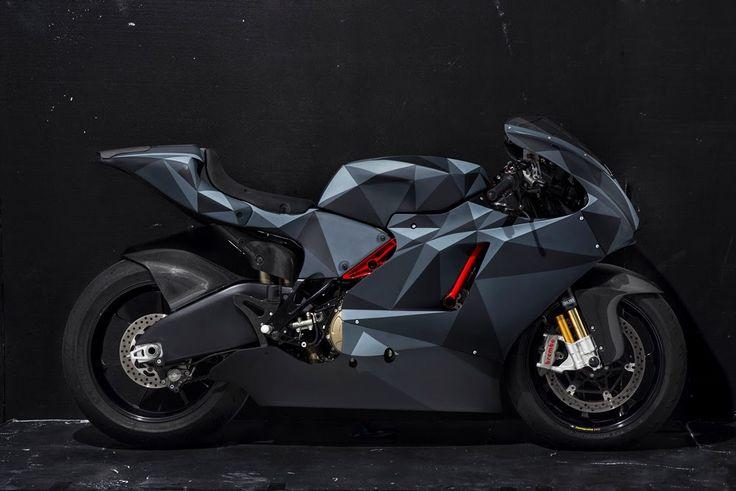 "DAILY INSPIRATION: Death Spray Customs ""Black Polygon"" Ducati Desmosedici RR"
