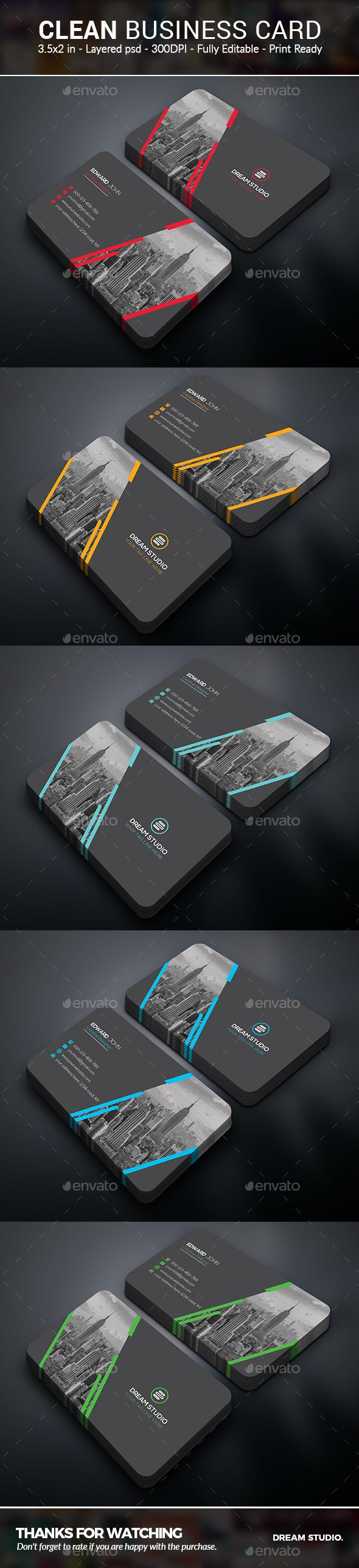 Business Cards - Business Cards Print Templates Download here : https://graphicriver.net/item/business-cards/19690782?s_rank=27&ref=Al-fatih