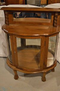 Beautiful Antique Vintage Cabinet with Curved Glass Door Guelph Ontario image 1
