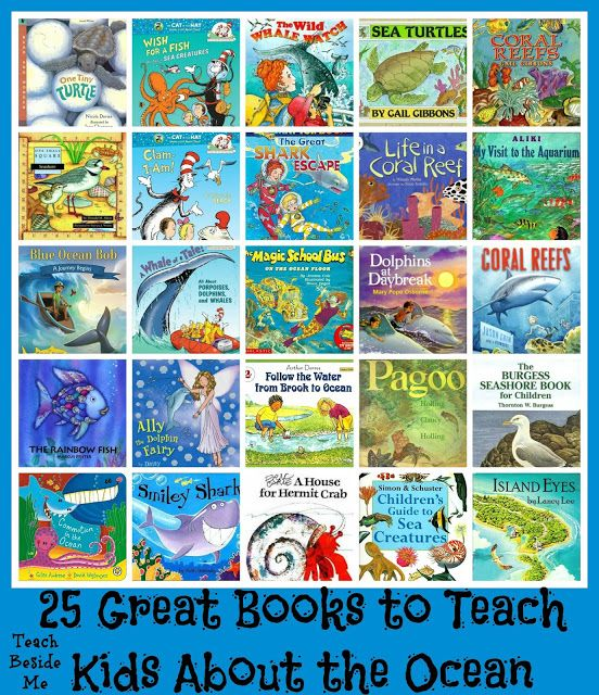 25 Ocean Books for Kids plus a snapping fish craft. Great for a sea theme.